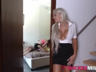 Bad Mommy Shares Cock With Her Daughter After Catching Her With Boyfriend