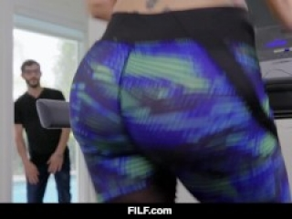 FILF - Athletic redhead mom Savana Styles gives her stepsons cock a workout
