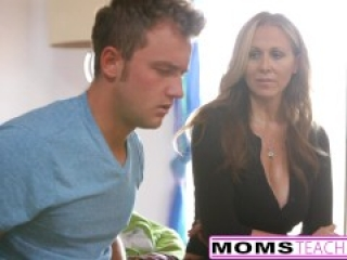 MILF Julia Ann Threeway With Step-Son & Teen Creampie