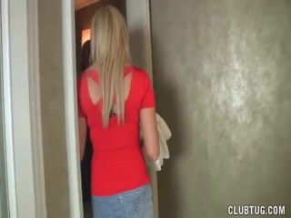 Two hotties tag-team a big dick