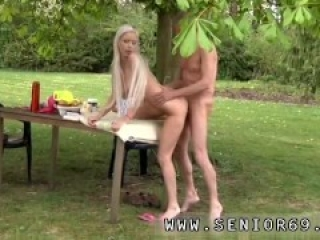 Old bi mmf first time Paul is enjoying his breakfast in the garden with