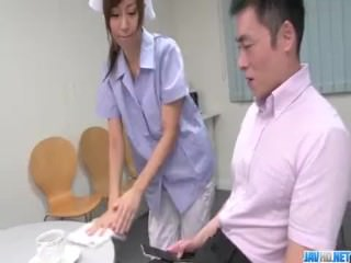Chihiro Akino first experience with two big cocks