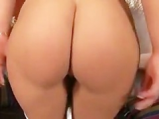 Nerdy Brunette Schoolgirl Takes To Cocks For Hot Double Penetrati