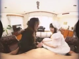 Japanese VR High class of maid porn service