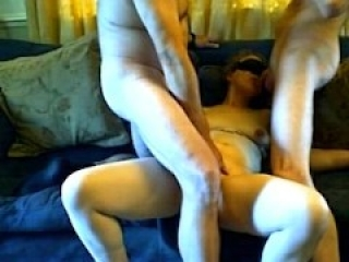 3 some couple sharing cock MMF