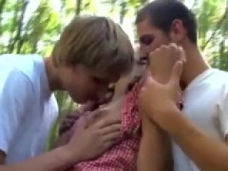 MMF 3-Some -- Camp Counselor Fucks 2 Boy Campers