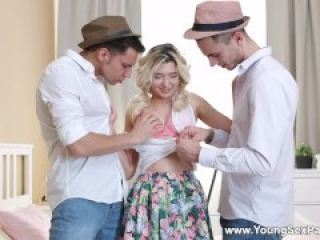 Young Sex Parties - Cornelia - Teen threeway & double facial