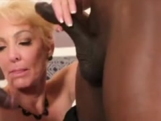 Black dick double penetration gift for hot granny