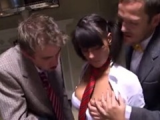 SCHOOLGIRL GETS HER HOLES STRETCHED