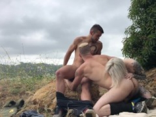 Outdoor Bisexual MMF at Runyon Canyon with Sammy Knoxx & Dante Colle