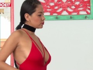 LETSDOEIT - Big Tits Latina Has REVENGE Sex With STEP BROTHER and Friend