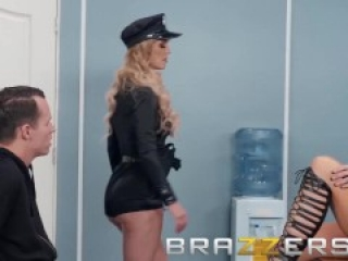 Brazzers - Two naughty cops share big cock